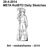 META RotBTD 2014 Daily Sketch 4-29 by veekaizhanez