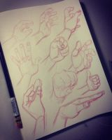 Sketchbook Hands 01 by DerekLaufman