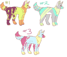 Scootchy Dogs Adoptables Batch 2 Open by Luccient-Glitcher