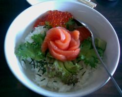 Salmon Rice Of Sorts by aquarius-galuxy