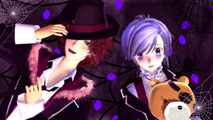 MMD  Laito and Kanato (Spiders) by ynn016