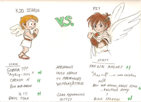 Kid Icarus vs. Pit by athelink