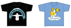 Winter and Summer Shakedown T-shirt Designs by MyRobotBee