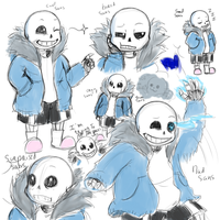 Sans sketches by Vishnya-Azraq