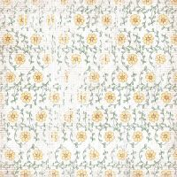 Faded yellow flower pattern by zzluvbug