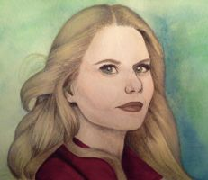 Emma Swan Watercolour by PrincessPeach88