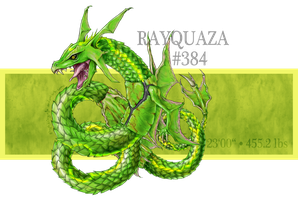 Real Pokemon: #384 Rayquaza by StephanieGrafe
