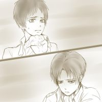 Rivaille x Eren by tifl429