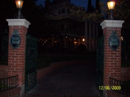 Haunted Mansion gate by foxanime101