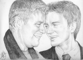 Sean Astin and Elijah Wood by AuralayKristine