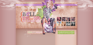 Simple layout With Bella Thorne (Premade/Free) by redesignbea