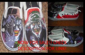 Killing Joke  and other Custom Shoes FOR SALE by JackSkelling10