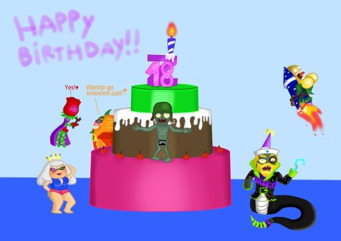 Happy (late) birthday Queen Zombia!!! by megalon1337