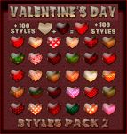 Valentine's Day  Styles Pack 2 by Tetelle-passion