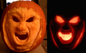 Pumpkin 2012 - Generic Screaming Face by GaryStorkamp