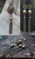Antique gold steampunk set by ukapala