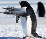 Pengin with Guns by microx