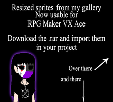 Resized Creepypasta Sprites for RPG Maker VX Ace by Lagoon-Sadnes