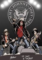 Ramones on Stage by NachoMon