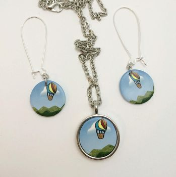 Hot Air Balloon Jewelry Set by noellewis