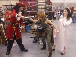 Hook, Peter Pan and Wendy by ShoryukenFighter77