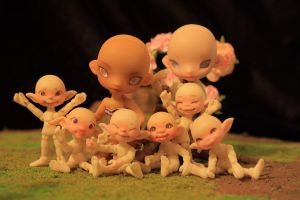 DHS micro BJD family by DreamHighStudio