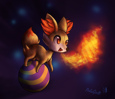 Fennekin used FireBreath by PokeGirl5