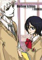 hollow ichigo and rukia by nonoye