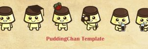 PuddingChan Template by ILICarrieDoll