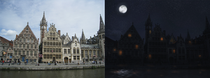 Day to night matte painting by RobertoGatto