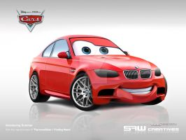 bwm m3 disney CARS 'BUMMER' by yasiddesign
