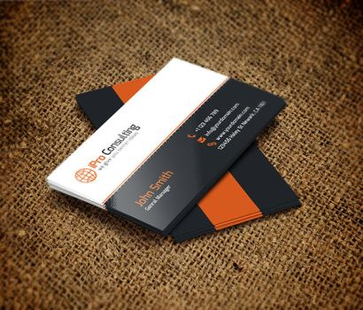 Free PSD: iPro Consulting Business Cards by thearslan