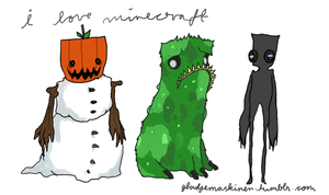 Creeper and friends by ctrl-fish