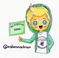 'Fangirl' Niall Chibi by Sharsel
