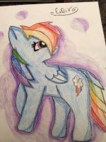 My drawing off Rainbow Dash by CosmoDeath
