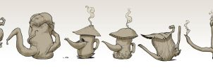 Props natural teapot by DavidSequeira