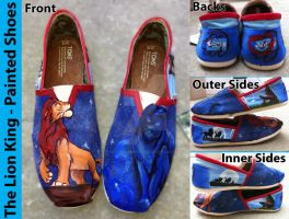 The Lion King Painted Shoes by CrystalsCreative