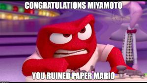 Anger's reaction to Paper Mario Color Splash by Wrenchy247