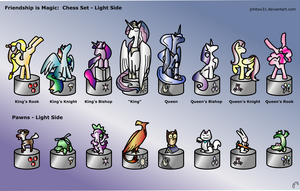 Friendship is Magic - Pony Chess Light Side by jimbox31