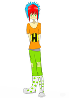 colorful person(art trade labyrinth77) by honeychon