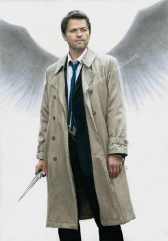 Castiel (drawing) by Quelchii