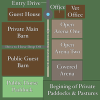Four Leaf Acres Stable Map by Sommer-Studios