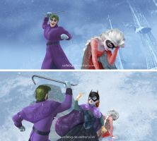 Frozen: Joker, Robin and Batgirl crossover by cellebg