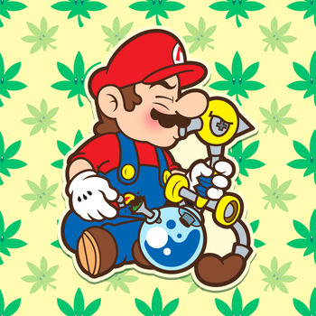 Super Mario Stonedshine by Spritanium