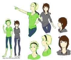 Female  Martyn and Toby sketches by Hisui-tenshi