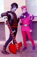 Marshall Lee x Prince Gumball - Adventure Time by InCielxCPherCosplay