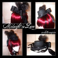 Midnight in Lace - Mini TopHat by EveElle