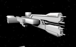 Halo 2 UNSC Frigate WIP by korblborp