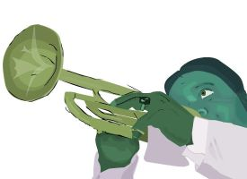 Art WIP 2- Louis Armstrong by teirrah1995
