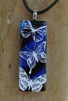Butterfly Flight Fused Glass by FusedElegance